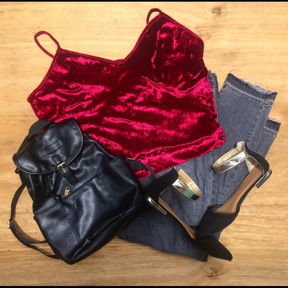 Charlotte Russe Tops - Crushed velvet 3x bodysuit WORN ONLY ONCE